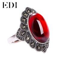 EDI 925 Sterling Silver Jewelry Natural Gemstone Women Ring Classic 2017 Sterling Silver Fine Jewelry Rings