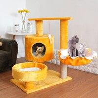 Pet Cat Scratcher Tree Tower Climbing Post Shelf Board Sisal Cat Jumping Platform Play House Furniture Cats Scratching Posts Toy