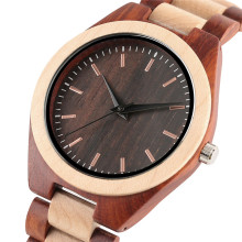 Wooden Watches Luxury Wooden Bamboo Men Watch Ebony Wood Strap Men's Creative Analog Maple Quartz Wristwatch Relogio Masculino