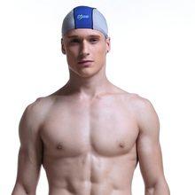 Novo tamanho Livre Elástica Não-Deslizamento À Prova D  Água de Natação Cap  Orelhas de Proteção Sports Swim Piscina Hat Touca de. 5b4ea470d94
