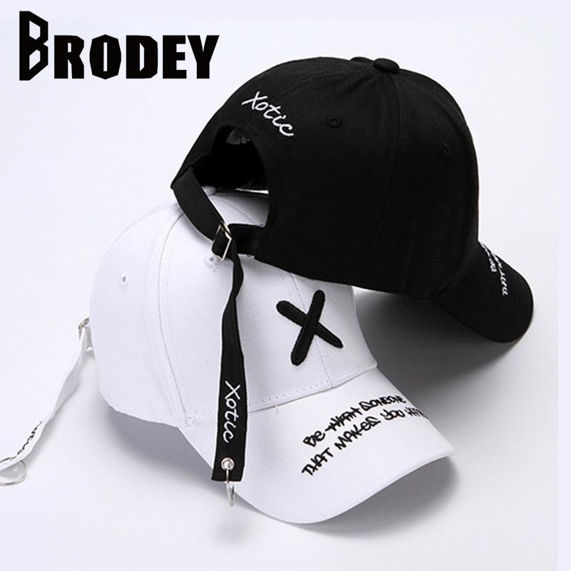 Fashion X Embroidery Men's   Baseball     Cap   Summer Panama Cotton   Caps   Men Women Adjustable bone Snapback   Cap   male Black Dad Hats