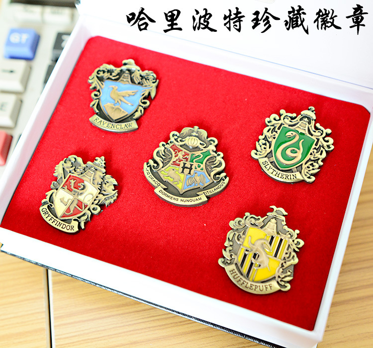 Anime COSPLAY 5pcs Harry Potter Cosplay Magical School badgeS Pin Gryffindor Ravenclaw Slytherin Hufflepuff Broo