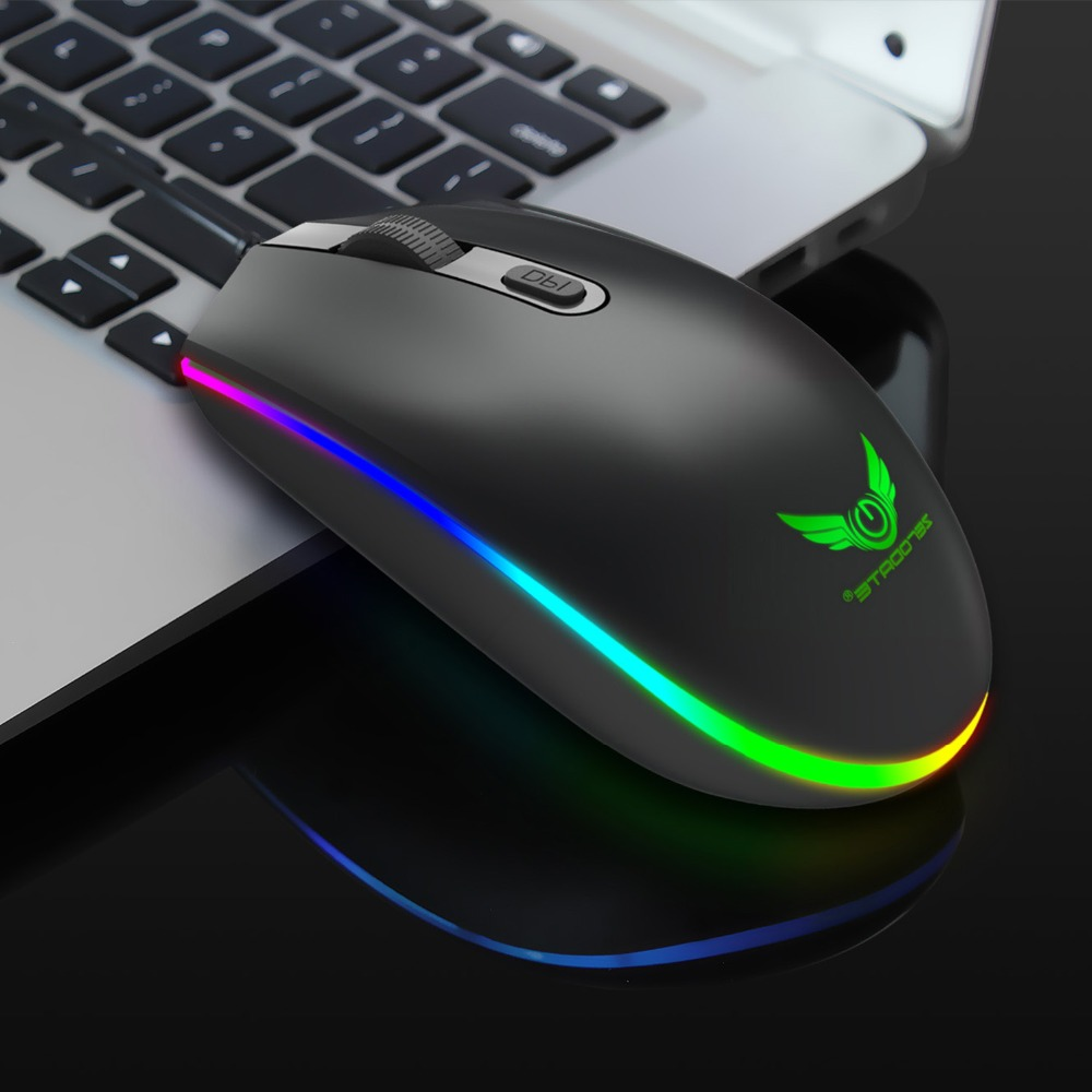 1600DPI RGB LED Optical USB Wired Gaming Mouse 4 Buttons Gamer Computer Mice