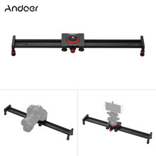 Andoer 20/16/רכבת מסלול Slider מייצב וידאו מצלמה סגסוגת אלומיניום 12 אינץ לטלפון סלולארי/למצלמות DSLR DV צילום סרט