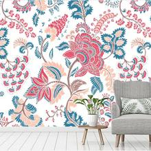 3D Vintage acuarela flor papel pintado Mural de pared interior para sala de estar rollos de papel de contacto rollos de papel de pared de papel personalizado