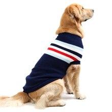 Теплый шерстяной свитер для собак, зимняя утепленная одежда для собак, мягкое пальто для маленьких больших собак, кошек, животных, синего и красного цвета, 8 размеров, Прямая поставка