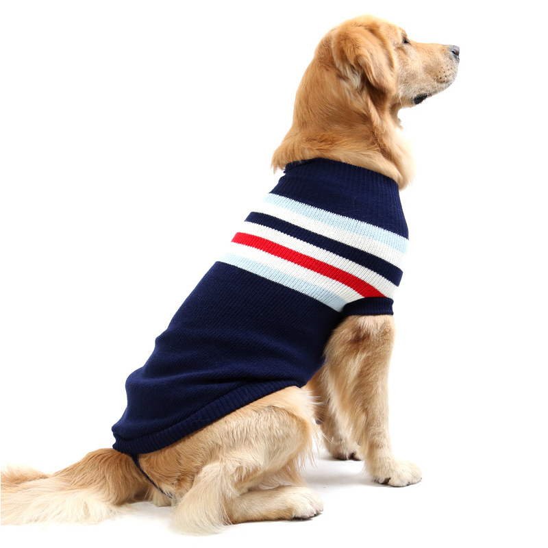 Warm Wool Dog Sweater Winter Thickening Dogs Clothes Soft Coat for Small Large Dogs Cats Animals Blue Red 8 Sizes Drop Shipping