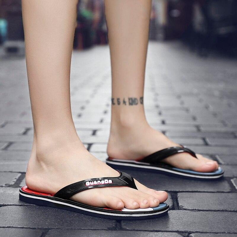 Новинка года; летние мужские сандалии; пробковые шлепанцы; повседневные Вьетнамки; Уличная обувь с принтом; Разноцветные шлепанцы; большие размеры 44