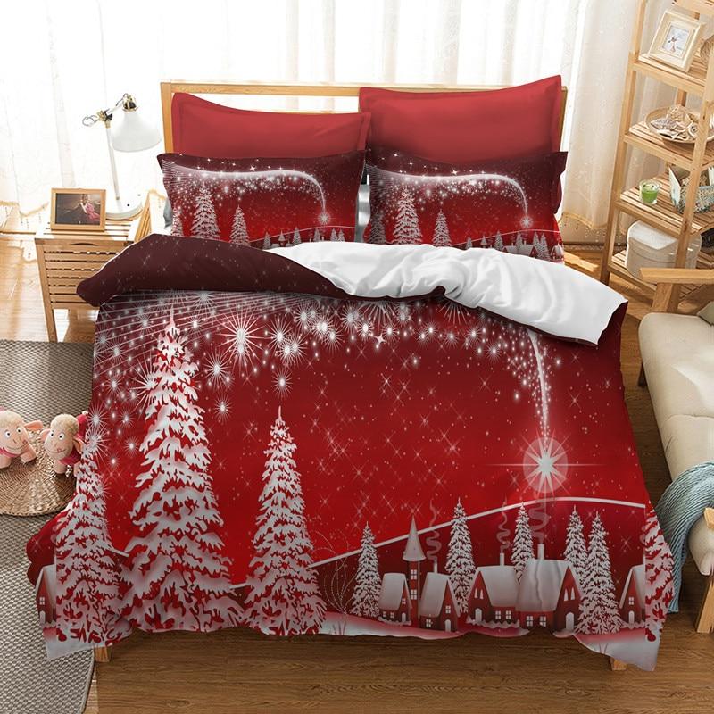 Christmas Bedding Sets Queen.Us 33 6 40 Off Fanaijia 3d Christmas Bedding Sets Queen Size Kids Duvet Cover Set Pillowcase Full Single Bedlinen In Bedding Sets From Home Garden