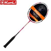 Free Shipping 100 Original KUNLI Badminton Racket FORCE 79 Full Carbon Professional TB NANO Technology Feather