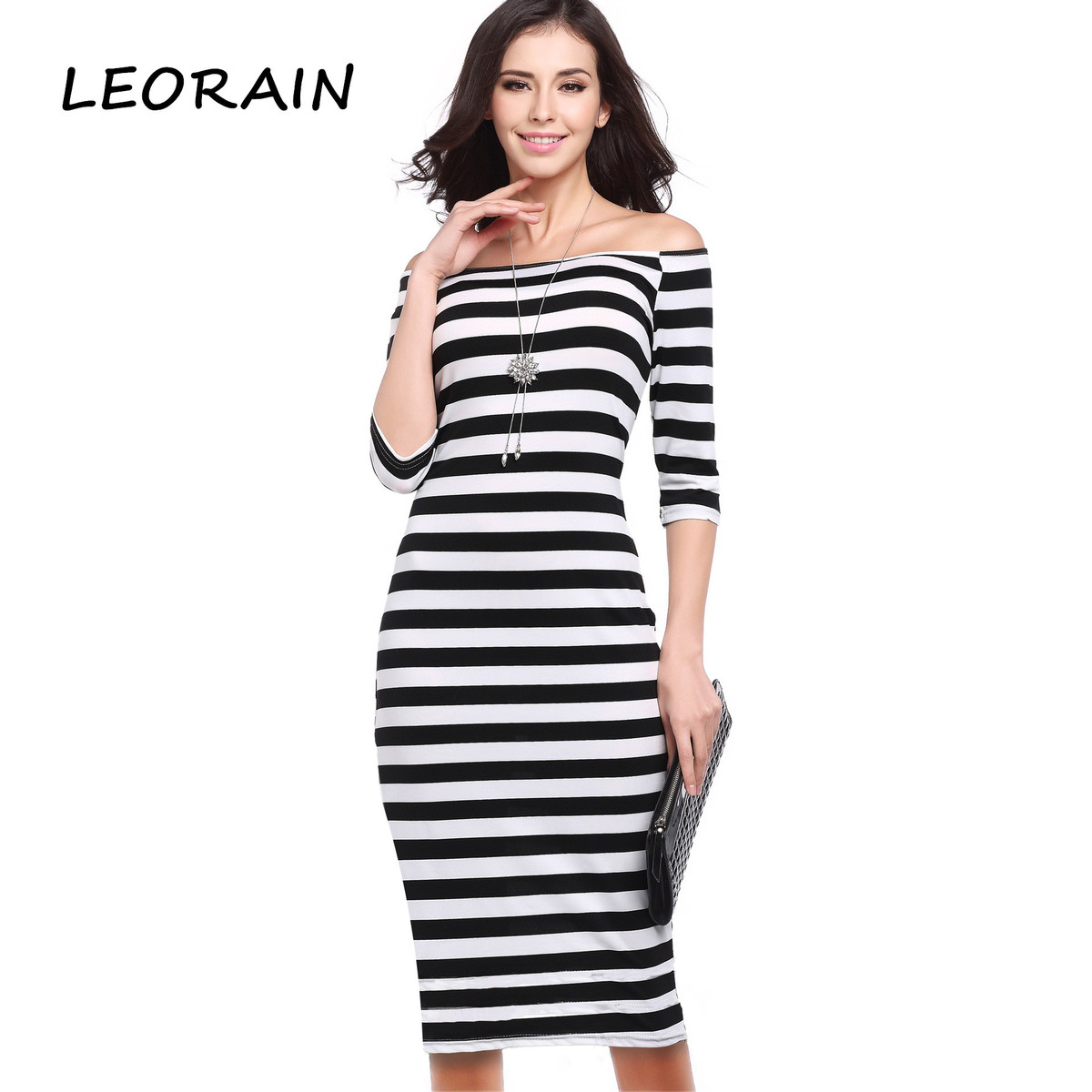 Buy Cheap Striped Fashion Slash Neck Casual Summer Collar Strip Sexy Off The Shoulder Hip Party Dress Ukraine Cheap Clothes China