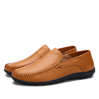 NEW Men's casual shoes genuine leather men shoes luxury brand classic fashion slip-on loafers for mans botas hombre max 11 b1587