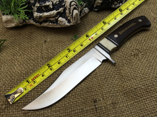 Browning Straight Hunting Knife Tactical Survival Knives Fixed Blade Knife Outdoor Tool Camping Knife With Bone & Ebony Handle