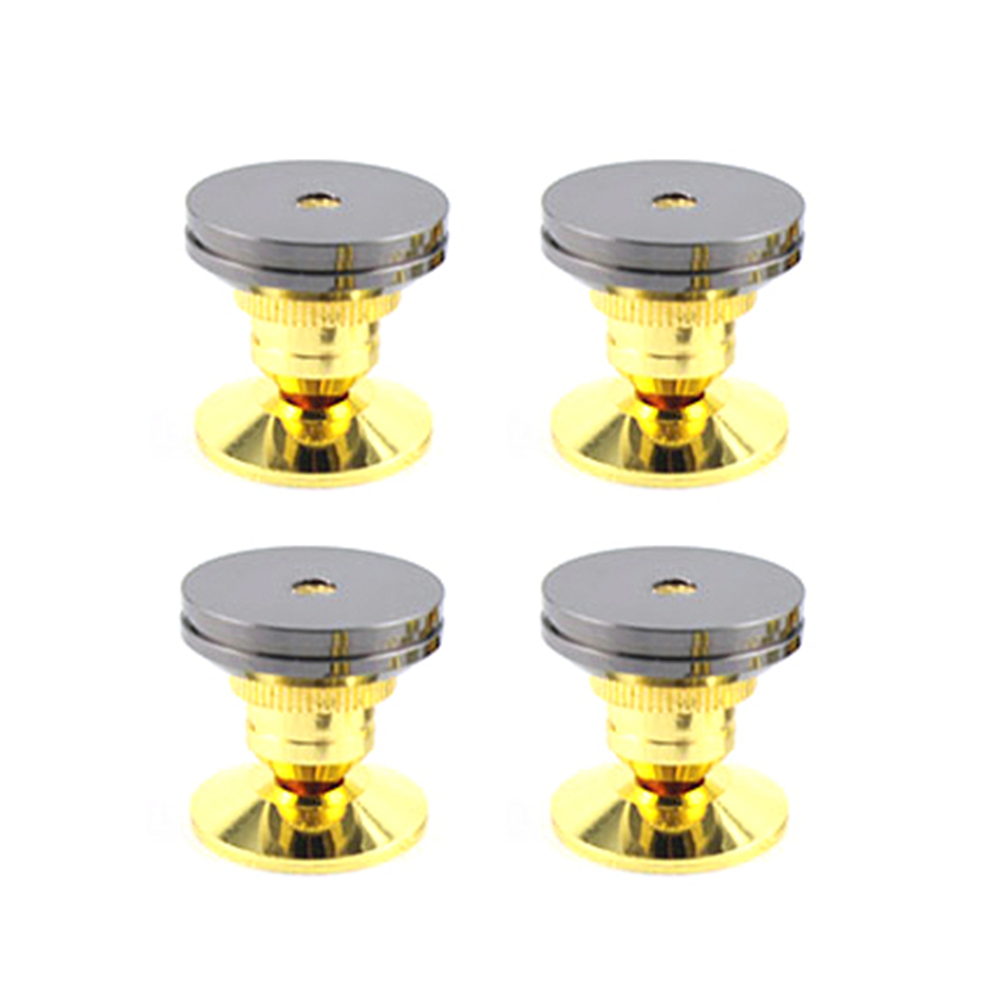 Unidades 4 SET/8 set altavoces pie almohadilla cobre puro oro altavoz caja Spikes cono piso pie uñas con Base estera adhesivo