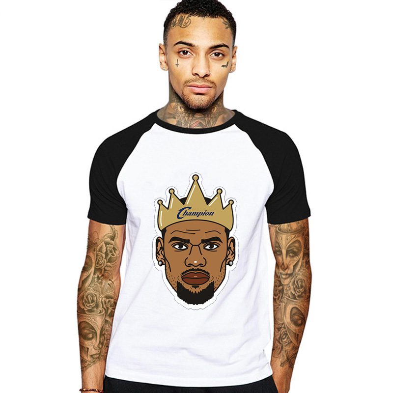 0bbebddd36a6 Detail Feedback Questions about Champion Lebron James LosAngele T shirt  James King T Shirt Cartoon Jersey Tops 23 Number Laker Tees Short Sleeve  Clothing on ...