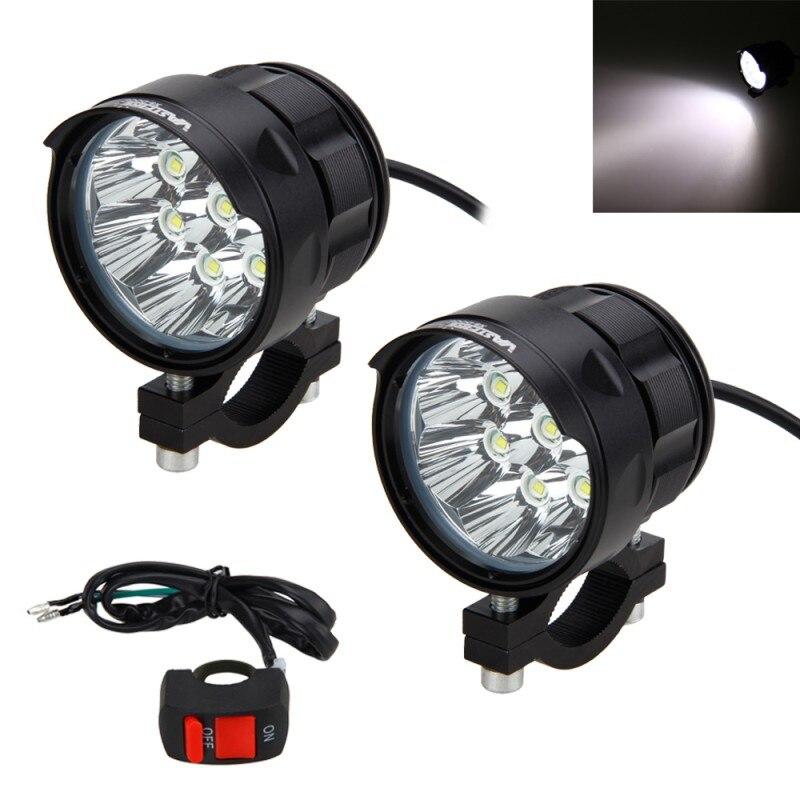 2 PCS 80 W 8x XM-L T6 LEVOU Motocicleta Barco Spot Driving Farol Nevoeiro Lâmpada de Luz com Interruptor