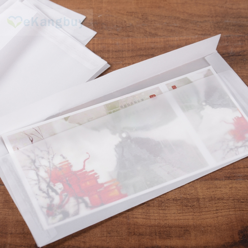 Image 3 - 50pcs Translucent Blank White Parchment Paper Envelope Postcards Invitations Cover Envelopes-in Paper Envelopes from Office & School Supplies