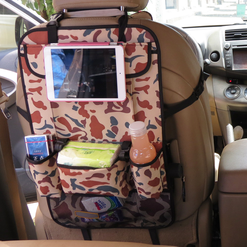 The Back Of Car Seat Oxford Camouflage Selling Backpack IPad Storage Bag Hanging In Bags Baskets From Home Garden On