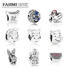 FAHMI 100% 925 Sterling Silver 925 charm Beads Fit Authentic European Bracelet original pendant DIY Jewelry Gift