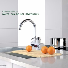 Мгновение безрезервуарное водонагреватель коснитесь мгновенная смеситель для кухни водонагреватель кран горячая вода кран с цифровым ЕС Plug