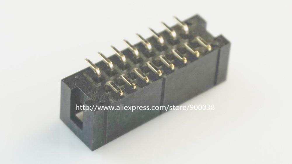 1000 Pcs SMT 2 54mm 2x8 Pin 16 P shrouded Box header IDC Socket straight Male