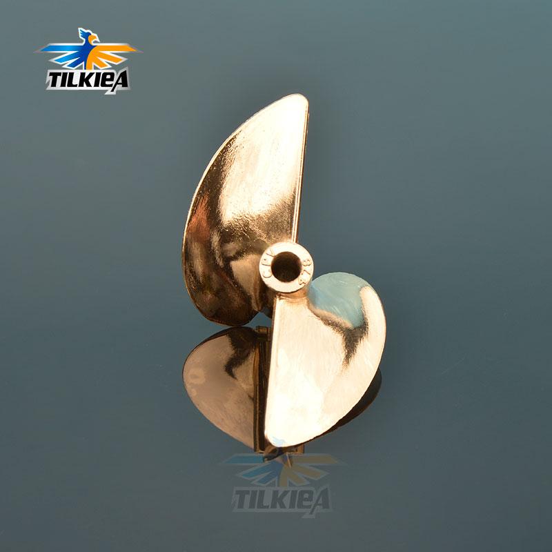 Rc Boat 478 Screw Diameter 78mm Prop 2 Blades Aluminum Propeller For 6.35mm 1/4
