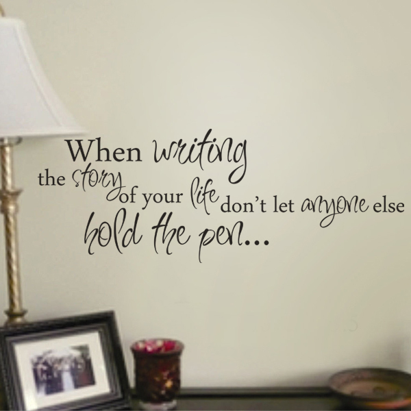 writing story of life wall art wall decal wall quote vinyl lettering