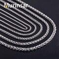 Aço inoxidável 316L cadeia colar largura 3 4 5 6 7 8 mm comprimento personalizado rodada ligação cadeia do aço inoxidável de jóias por atacado