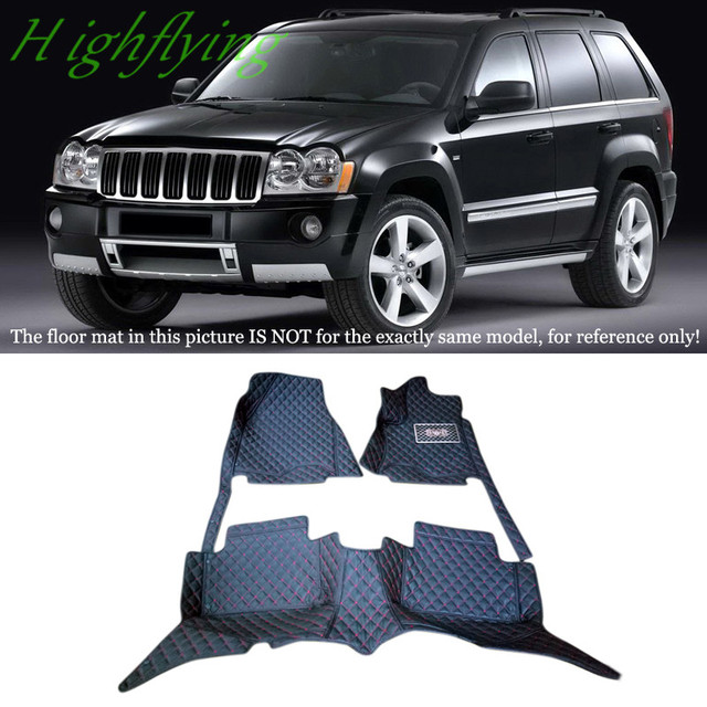 Interior accessories floor mats carpets foot pads full kit for jeep grand cherokee 2007 2008 for Jeep cherokee interior accessories