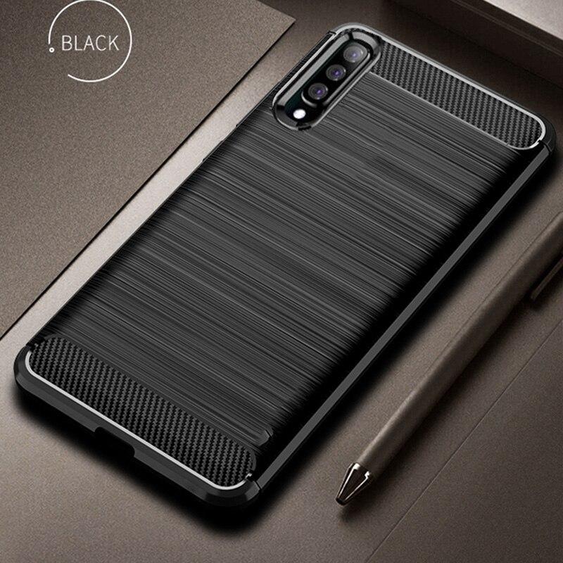Para Samsung Galaxy A50 funda de fibra de carbono 360 funda de teléfono A prueba de golpes para Galaxy A70 A 50 funda protección completa parachoques