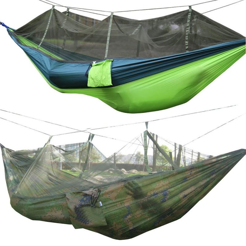 4 Kleuren Buitenshuis Camping Klim hangmatten 2-persoons Capaciteit 3 - Kamperen en wandelen - Foto 5