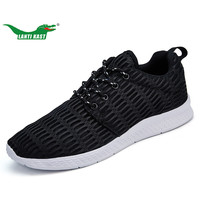 LANTI KAST 39 47 Large Size Shoes Men Running Shoes 2017 Summer Air Mesh Athletic Lace
