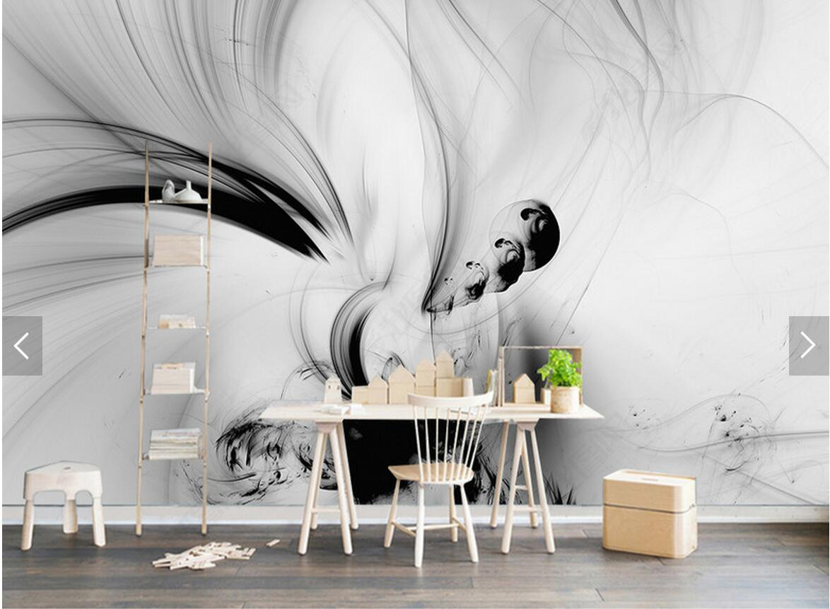 Wall murals black and white for Black white mural