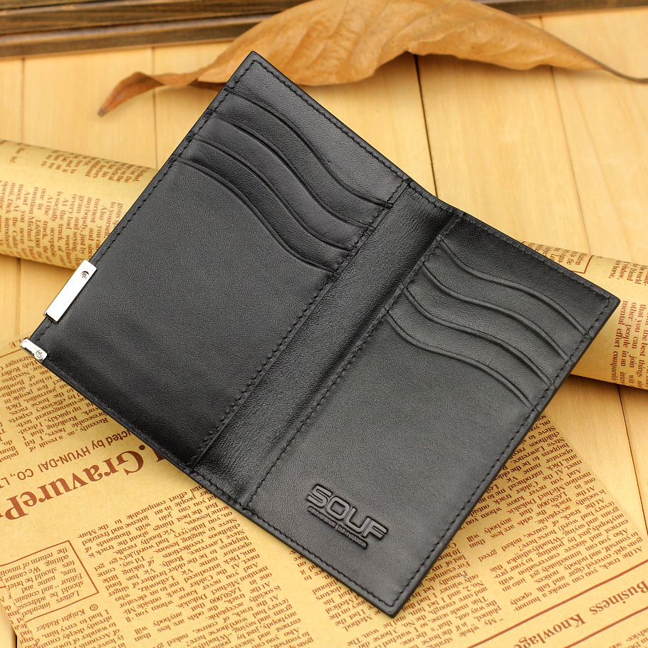 Genuine leather business card credit card holder case wallet genuine leather business card credit card holder case wallet protector womens men pack bag ultra thin fashion hasp in card id holders from luggage bags magicingreecefo Image collections
