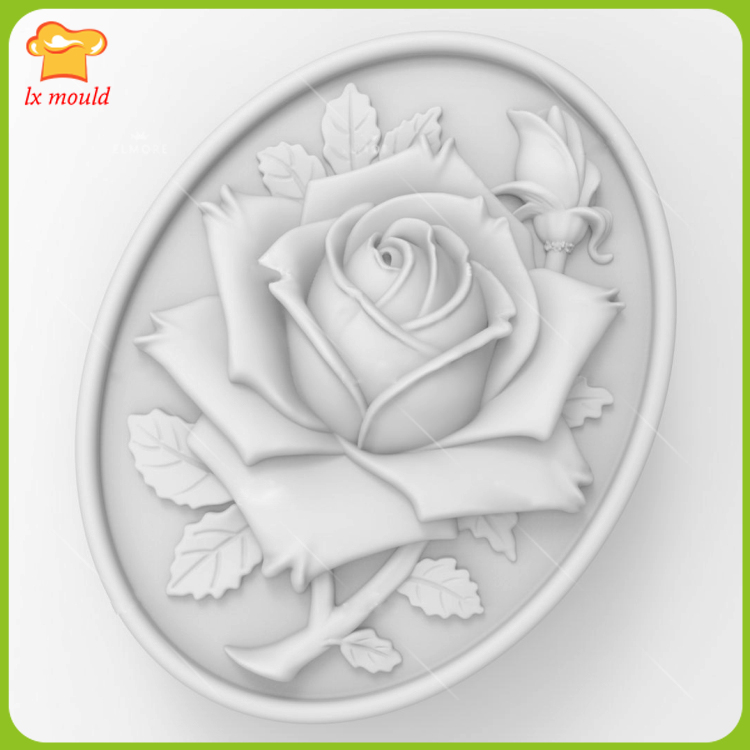 2017 new LXYY MOULD rose soap mold silicone mold soap mold flower food grade mold