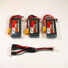 zop Original LiPo Battery 11.1V 1500Mah 3S 40C MAX 60C XT60 Plug and cable RC Car Airplane trucks buggy boats Helicopter 3pcs