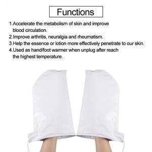 Image 5 - Elektrikli tırnak parafin ağda ısıtmalı eller ayak eldiveni kızılötesi terapi SPA cilt bakımı ısıtmalı balmumu eldivenler tırnak sanat manikür araçları