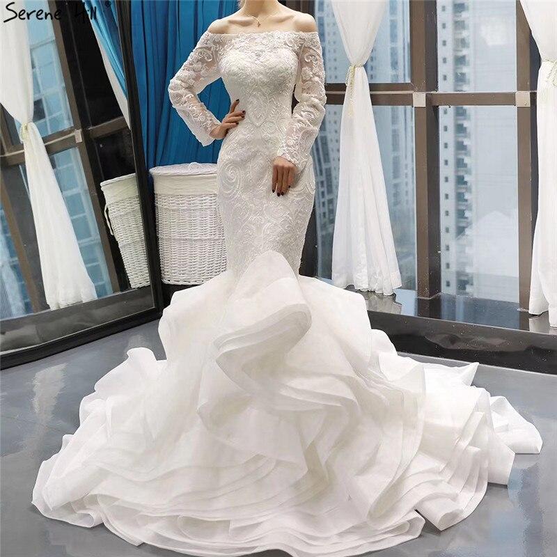Real Retro Weddings: Vintage Off Shoulder Long Sleeves Wedding Dresses 2019