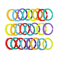 24pcs Baby Teether Toy Set 0M+ Baby Colorful Rainbow Rings Crib Bed Stroller Hanging Decoration Toys