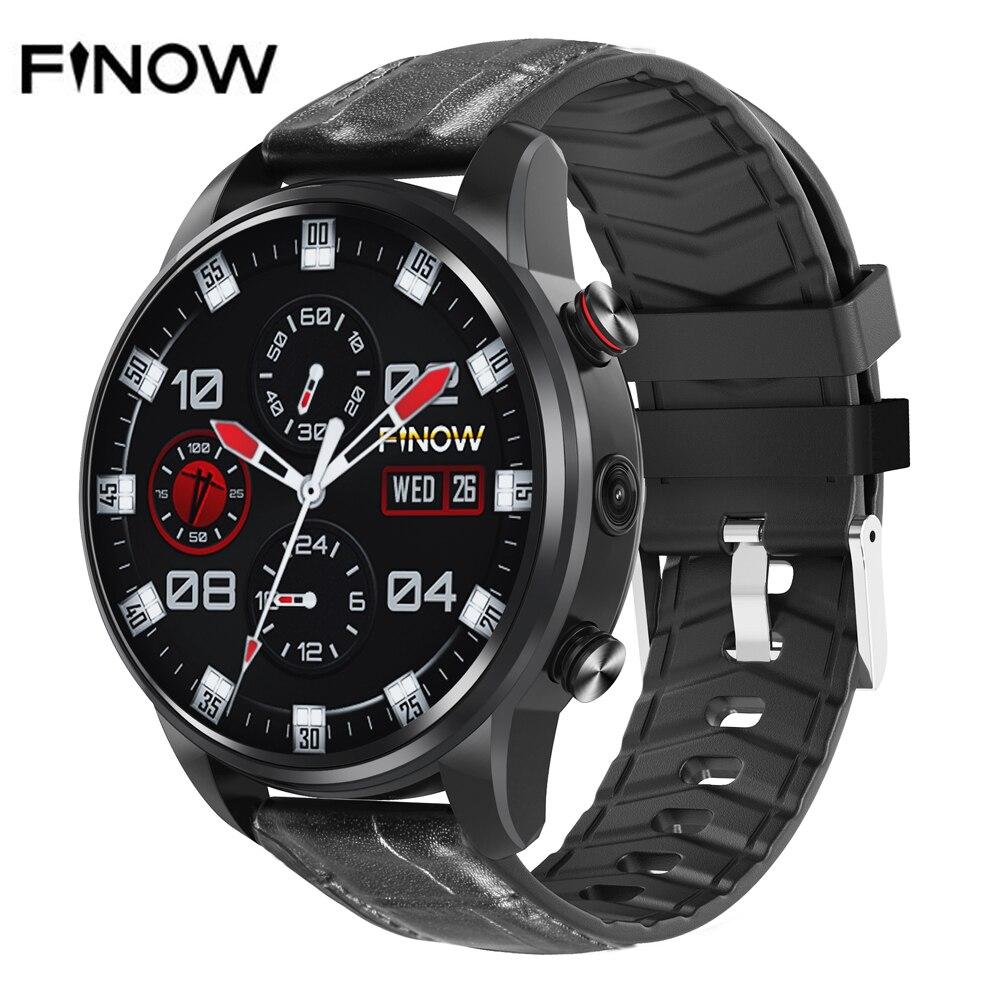 2019 nouvelle montre intelligente Finow X7 4G 1.39 pouces Android 7.1 1G + 16G Sport Smartwatch pour hommes femmes Fitness traqueur de fréquence cardiaque GPS