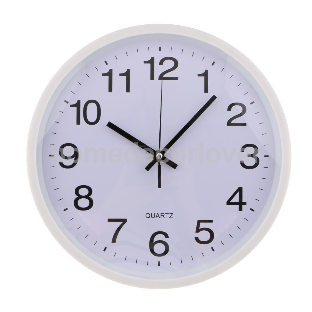 Formidable Home Office Wall Clocks From Home Garden On Inches Silent Universal Round Wall Clock Easy To Read Decorative Inches Silent Universal Round Wall Clock Easy To Read Decorative Wallclock furniture Easy To Read Wall Clock