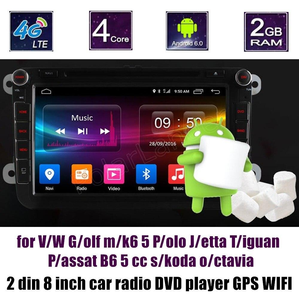 Lecteur DVD stéréo de voiture à écran tactile 2 din Bluetooth pour VW Golf mk6 5 Polo Jetta Tiguan Passat B6 5 cc skoda octavia