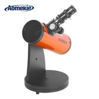 AOMEKIE Reflector Astronomical Telescope 15X 100X Protable HD Tabletop Terrestrial Space Monocular Telescope Moon Watching