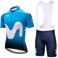 UCI WORD TOUR MAGLIA MOVISTAR 2018 Scotland Jersey PRO BLUE Cycling Clothing ROAD MOUNTAIN BIKE Maillot