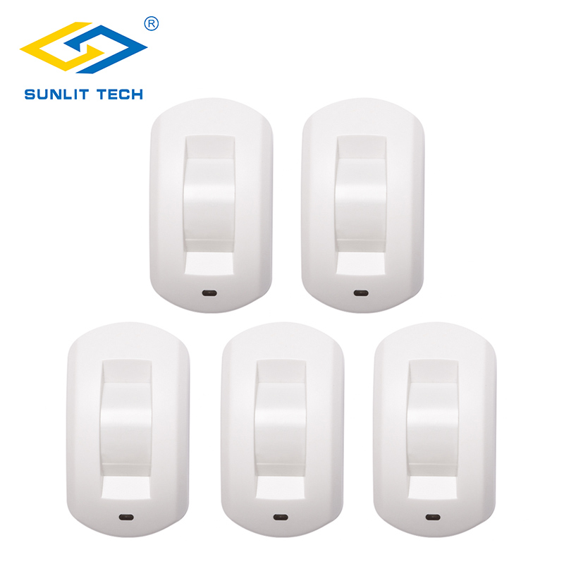 5pcs/Lot Wired Curtain Window PIR Motion Sensor Ceiling Passive Infrared Motion Detector For Home Burglar Alarm Security System 2pcs lot wired indoor usage pet friend passive infrared motion sensor for wired burglar alarm system free shipping