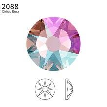 24 шт.) Оригинальные кристаллы от Swarovski 2058 XILION 2088 XIRIUS Rose без горячей фиксации стразы с плоской задней частью для украшения ногтей