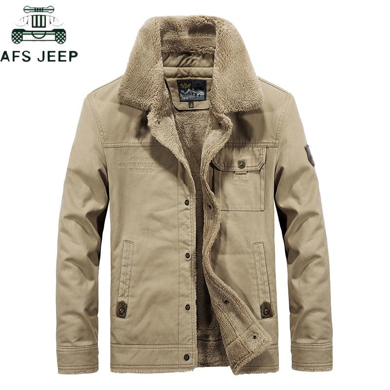 Men Brand Bomber Jacket 2019 Autumn Winter Thick Warm Military Jacket Men Fur Collar Plus Size 6XL Fleece Coat Jaqueta Masculina