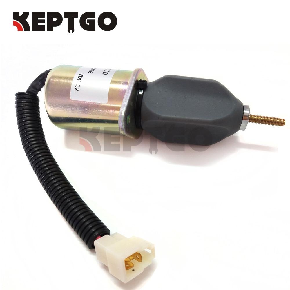 12v Fuel Stop Solenoid For Yanmar 4TNE94 4TNE98 119807-77800 SA-3840T SA-3840-T 1753ES-12A3UC5B1S1