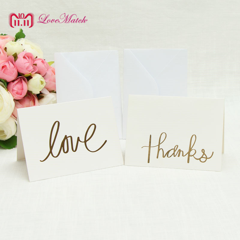 10sets Love And Thanks Invitation Card Party Wedding Birthday RSVP Card Table Place Name Card For Guest Wedding SE in Cards Invitations from Home Garden