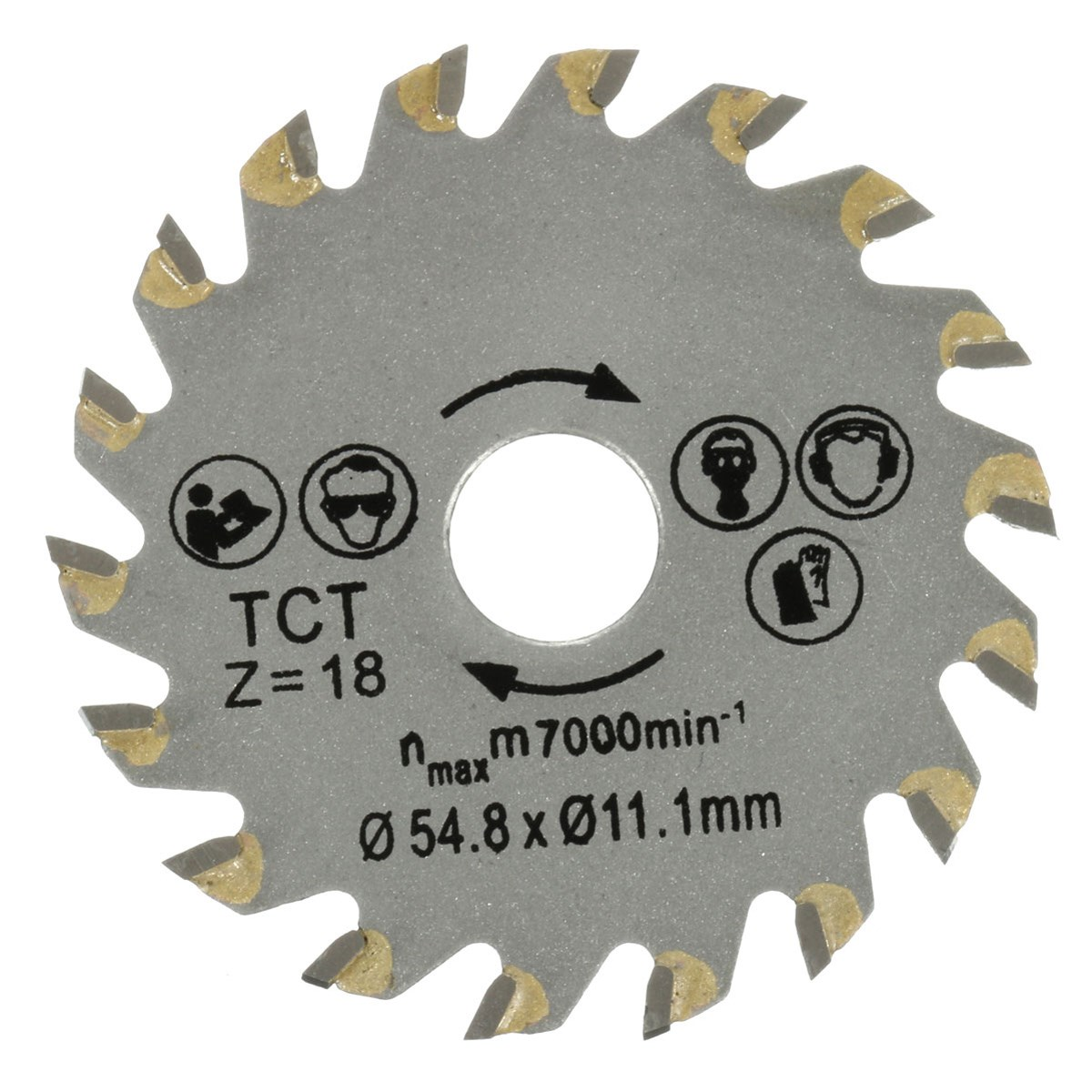 High Quality 1PC Circular TCT Saw Blade 18 Teeth 54.8mm Dia Fits Concrete Cement Wood Cutting Tools Hot Sale